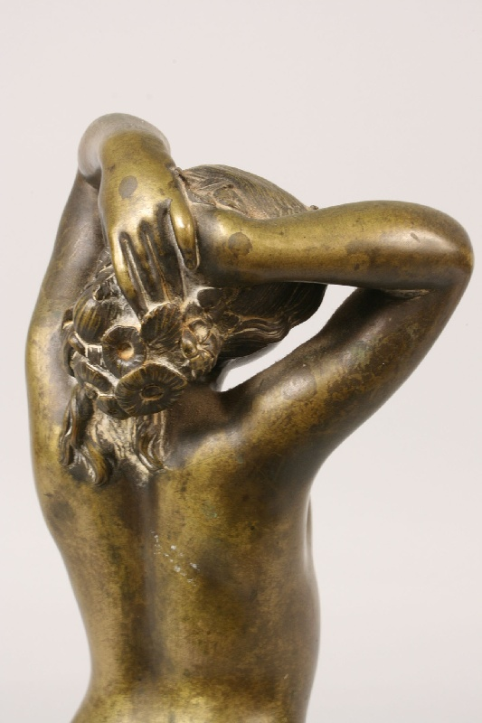 French bronze nude Hesperus by Joseph Pollet