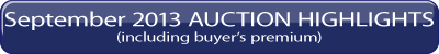 September 2013 iGAVEL Auction Highlights