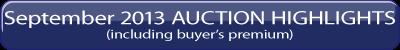 September 2013 iGAVEL Auction Highlights