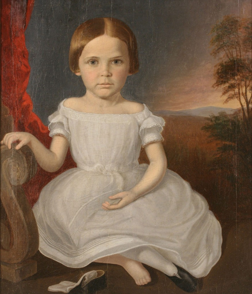 Lot 30: Samuel Shaver Portrait of Young Girl