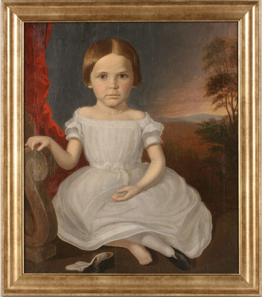 Lot 30: Samuel Shaver Portrait of Young Girl