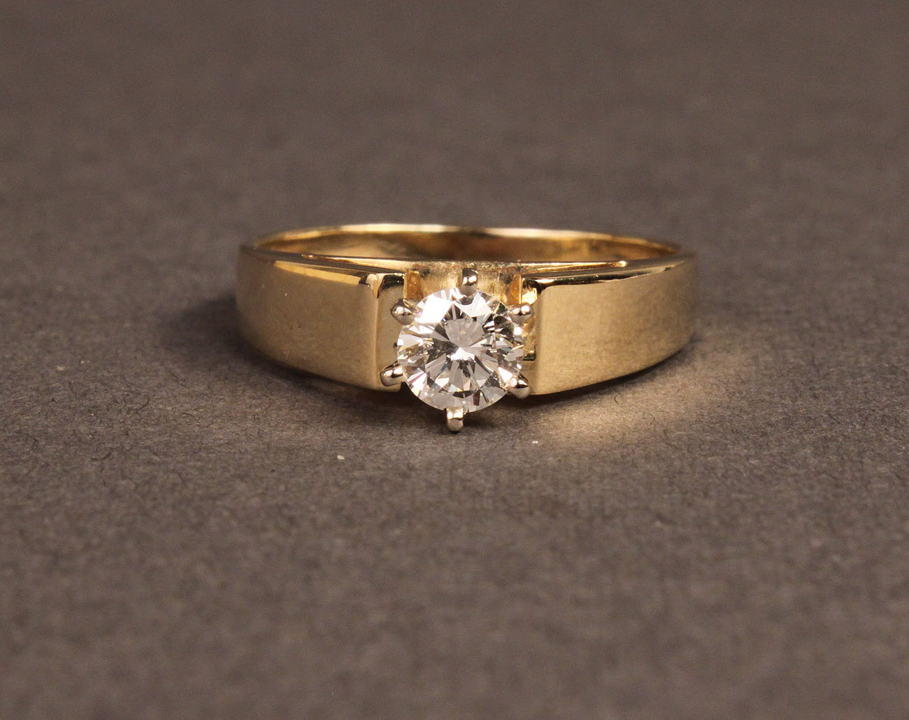 Lot 101a One Half Carat Diamond Solitaire Ring 14k Gold