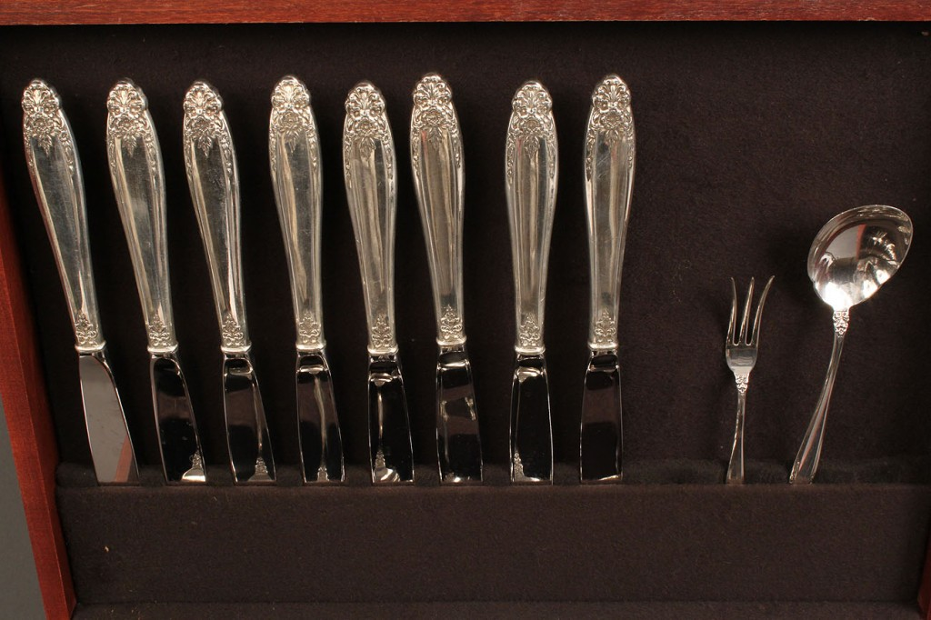 Lot 389A: International Prelude pattern flatware, 53 pieces and other