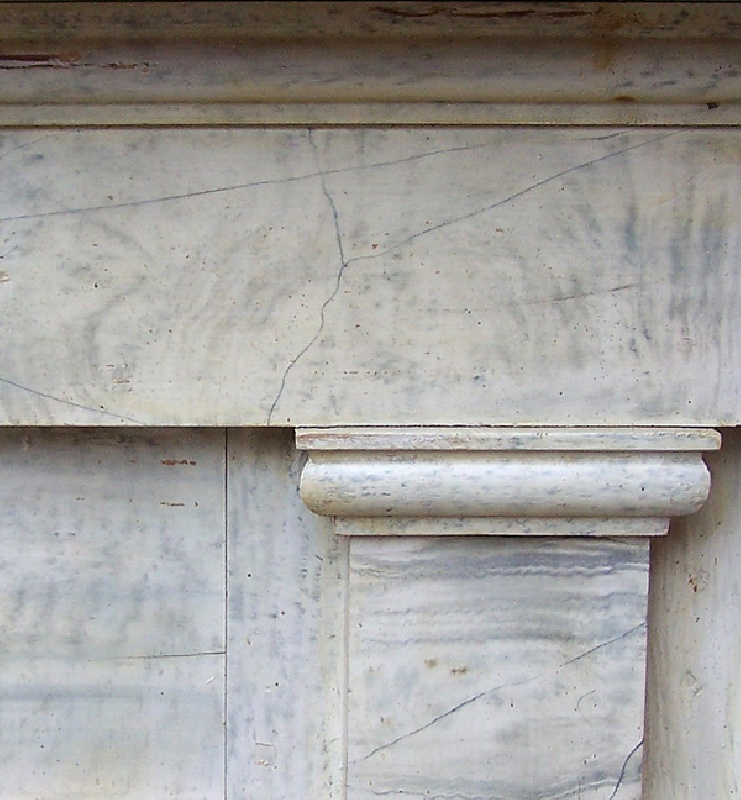 Southern marbleized painted mantle from Grayson County, Virginia