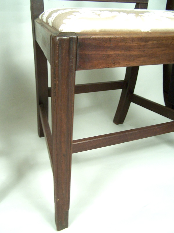 Pair of period George III mahogany side chairs