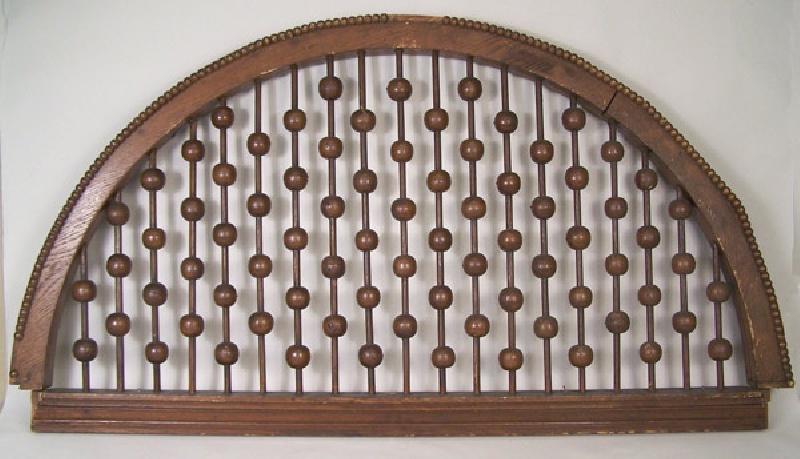 Oak architectural semicircular transom