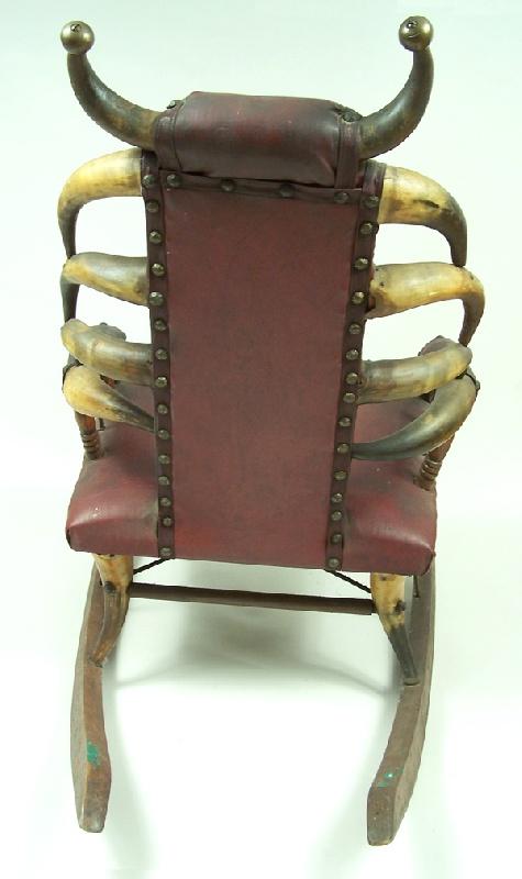 Texas child horn steer chair