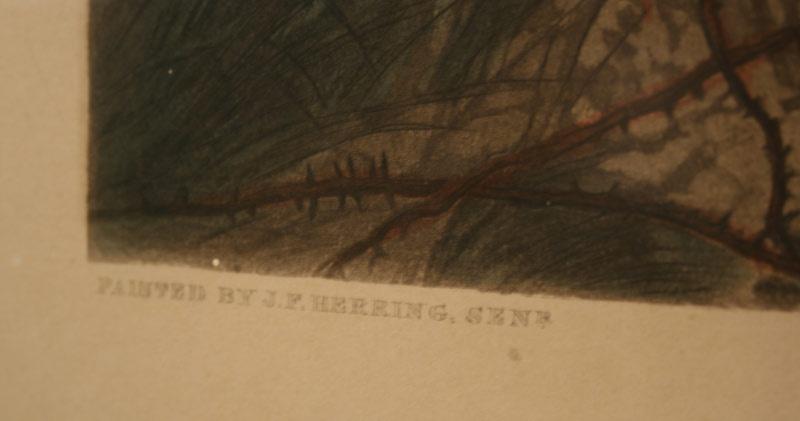 Herrings Fox Hunting Series, The Death, 1867