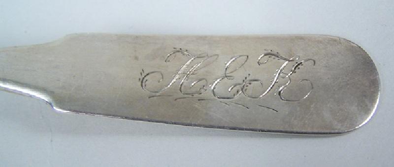 Coin silver ladle by Robert Keyworth, Washington D.C. silversmith