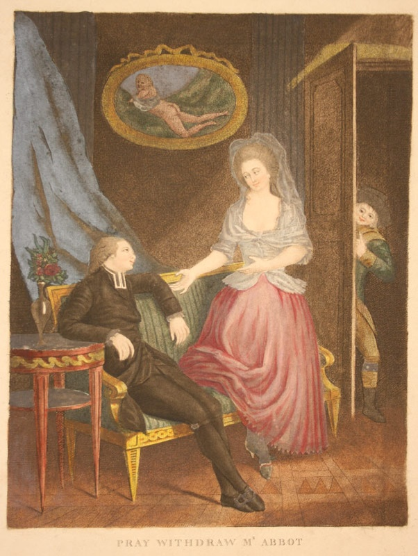 Provocative English engraving, late 18th century