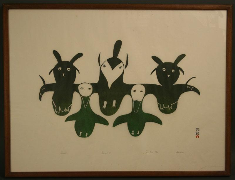 Inuit print by Alashua Aningmiuq