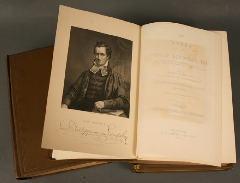 Historic items relating to Phillip Lindsley, President of Princeton and The University of Nashville