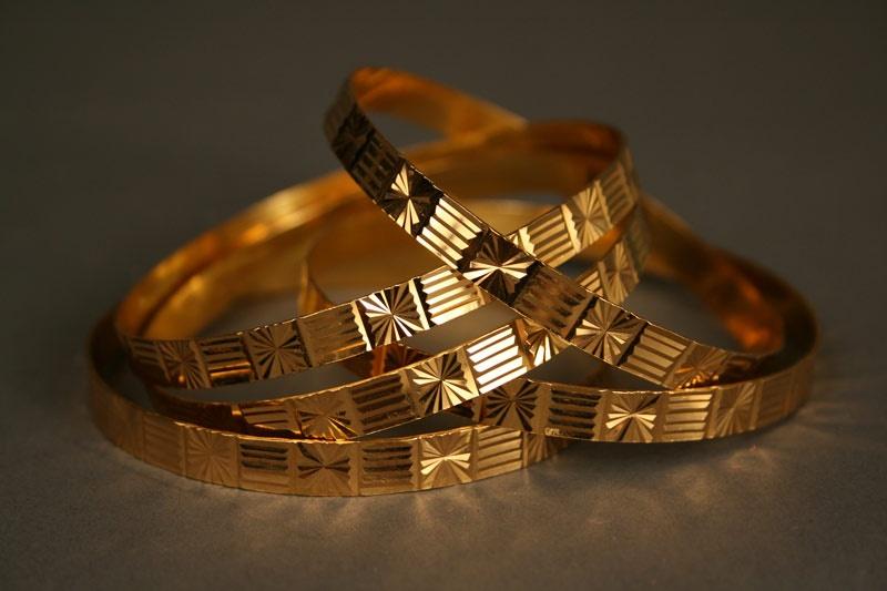 Five (5) 21K gold bracelets