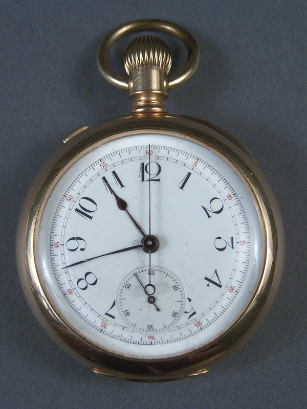 Large 14K gold pocketwatch, dated 1891