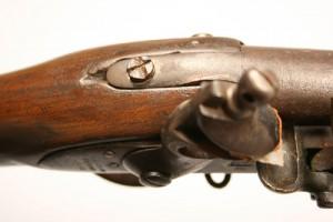 A Harpers Ferry flintlock rifle, U.S. Model 1816 musket, type II, lockplate marked Harpers Ferry 1825 - Lot#229 - Image 3