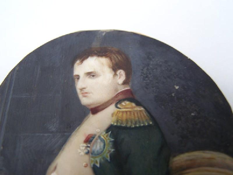 Painting on ivory of Napoleon Bonaparte