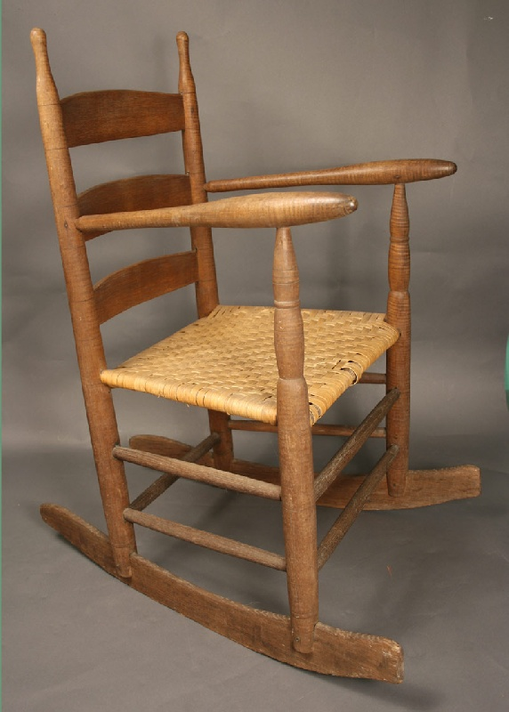 East Tennessee Rocking Chair With Highly Figured Wood Posts