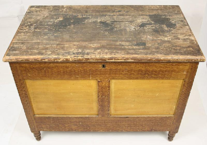 North Carolina grain painted chest