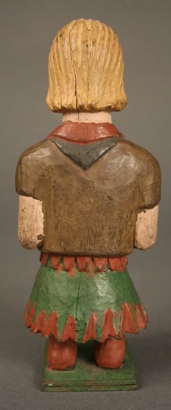 Southern folk art painted girl scout figure