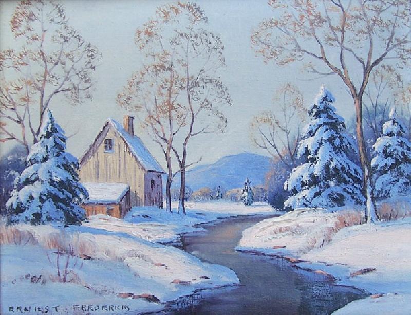 Ernest Fredericks oil painting