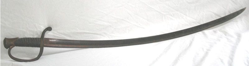 Artillery saber model 1840 and scabbard