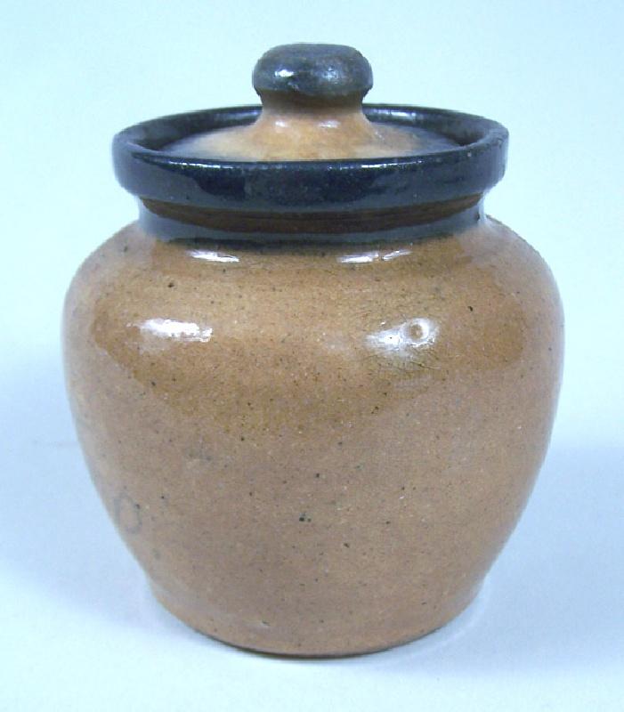 North Carolina Hilton pottery sugar jar