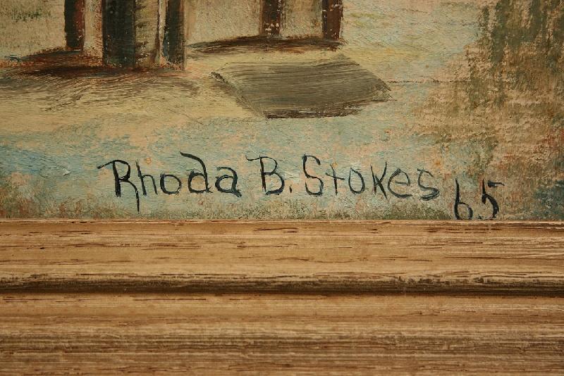 Rhoda Brady Stokes oil on board, Mississippi scene