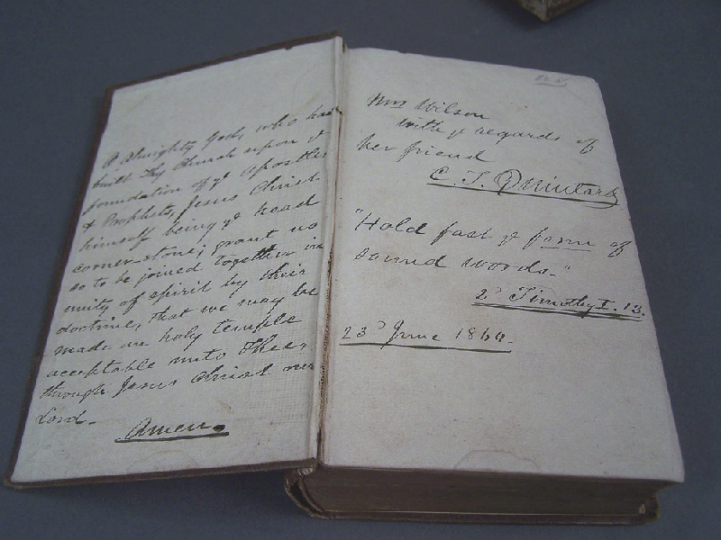 Confederate Chaplain C. T. Quintard signed Book of Common Prayer