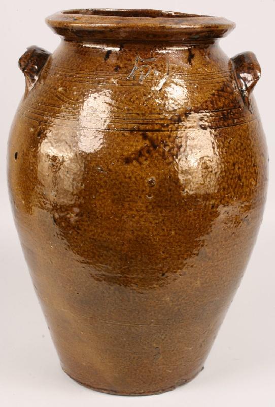 Southern alkaline glazed 5 gallon jar, Alabama