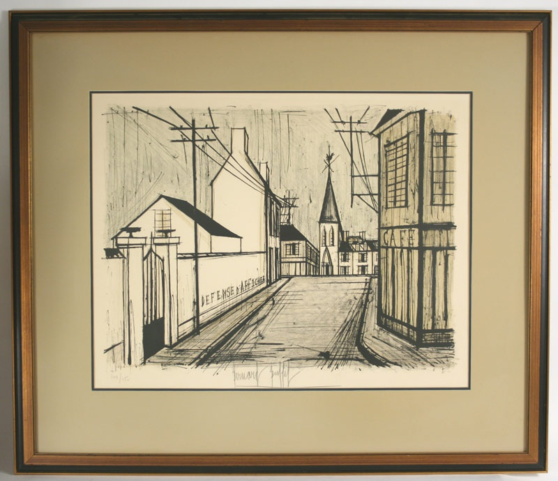 Signed lithograph by Bernard Buffet (French 1928 – 1999). Signed in pencil lower central margin. Mallonee estate.