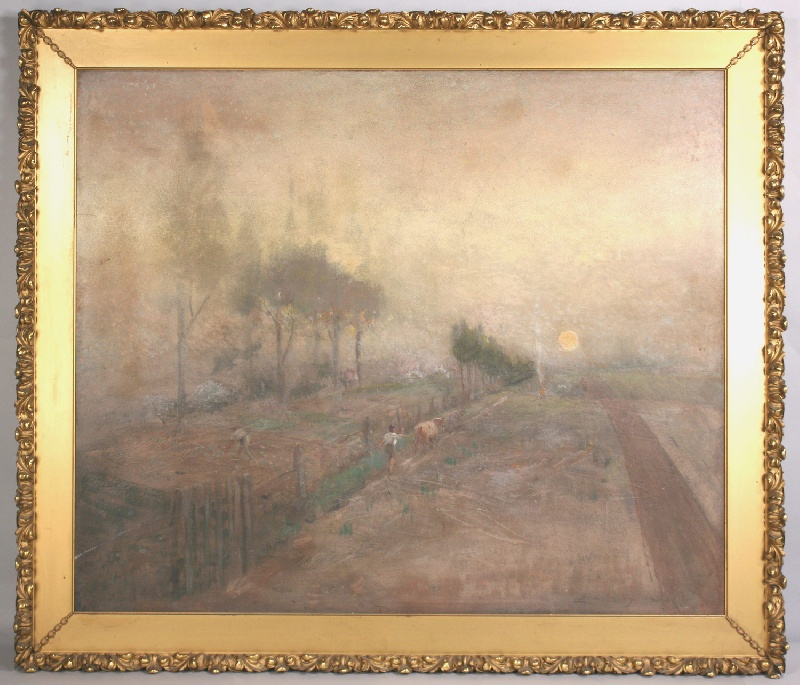 Large oil on board landscape by Lloyd Branson (TN, 1853-1925)
