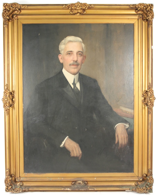 Portrait of Dr. Lowry by Knoxville artist, Lloyd Branson
