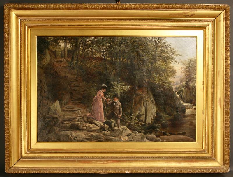 English Victorian landscape signed W. Bromley (William Bromley, British, 1835-1888)