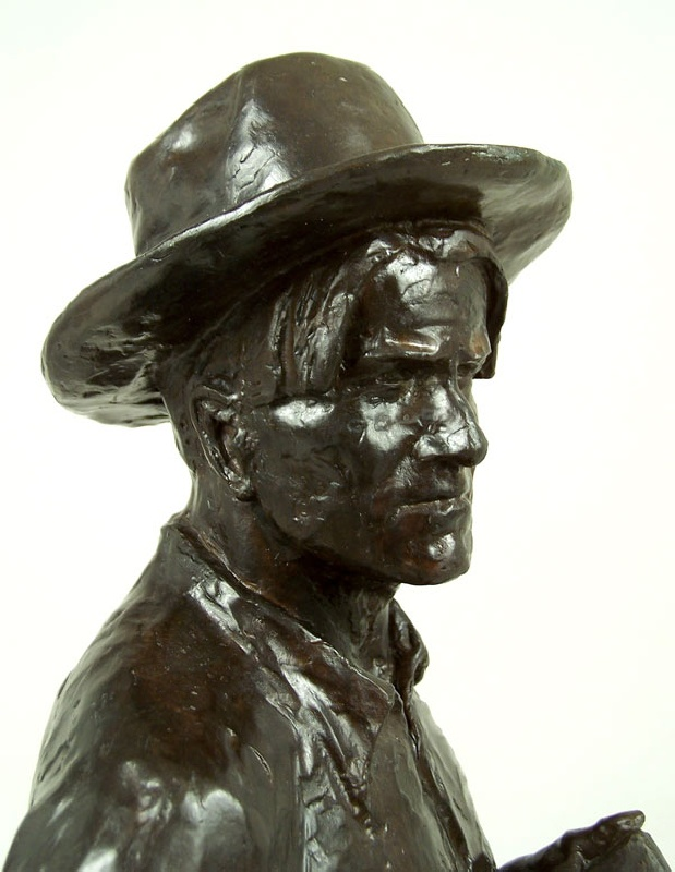 Large bronze of  western artist, C.M. Russell (lot#187)