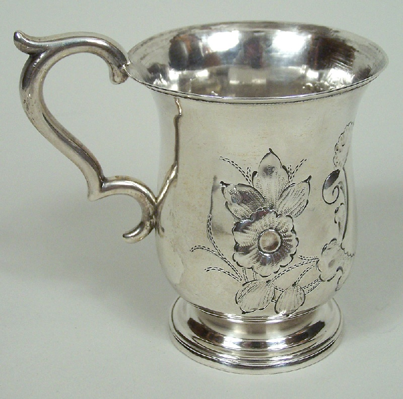Early Tennessee coin silver cup, William Calhoun, Nashville (lot#114)