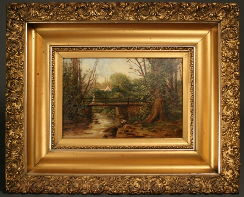 Oil on board of an East Tennessee landscape by Thomas Campbell