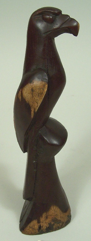 Cherokee hawk carving by Going Back Chiltosky, NC (lot#106)