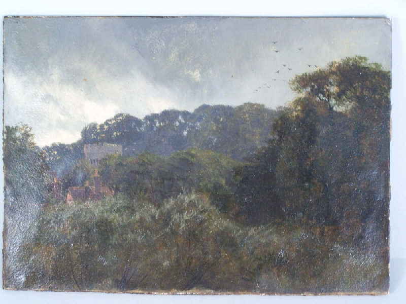 George Vicat Cole oil on board
