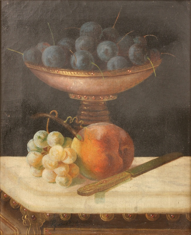 Still life oil on canvas by George Cope (1855-1929)