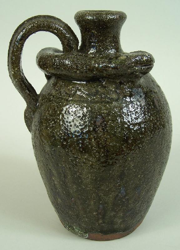 Southern folk pottery snake jug, B B Craig (lot#228)
