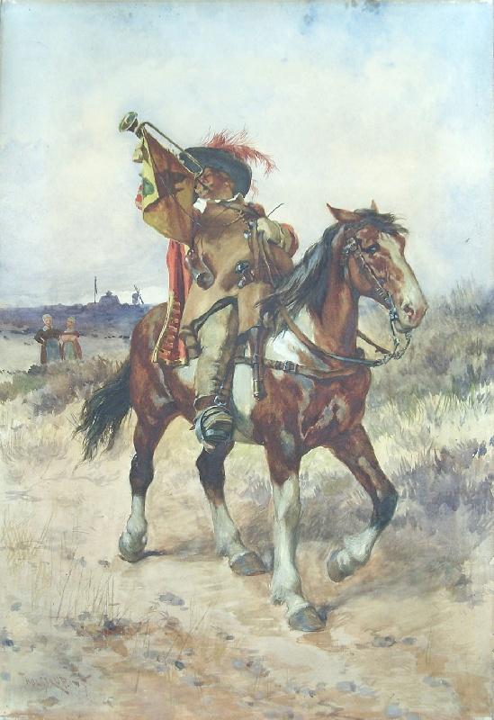 Illustrator Thur de Thulstrup painting (lot #188)