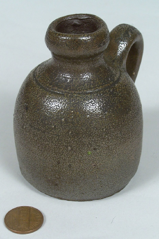 East Tennessee miniature jug, attributed to Charles Decker (lot#31)