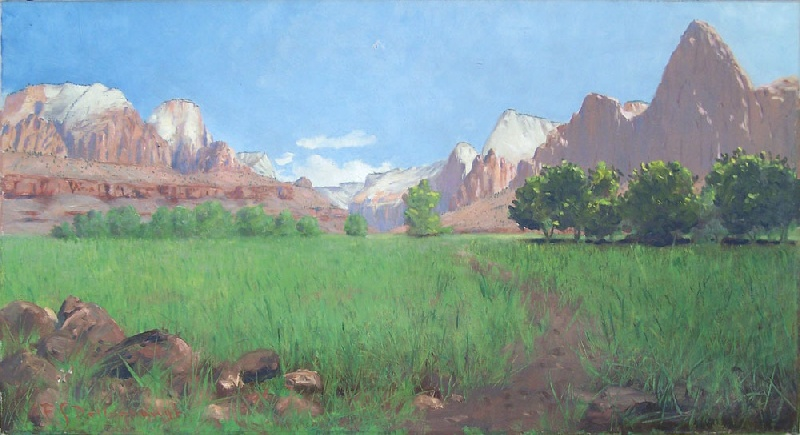 Frederick Dellenbaugh Western landscape of Zion Canyon (lot #185)