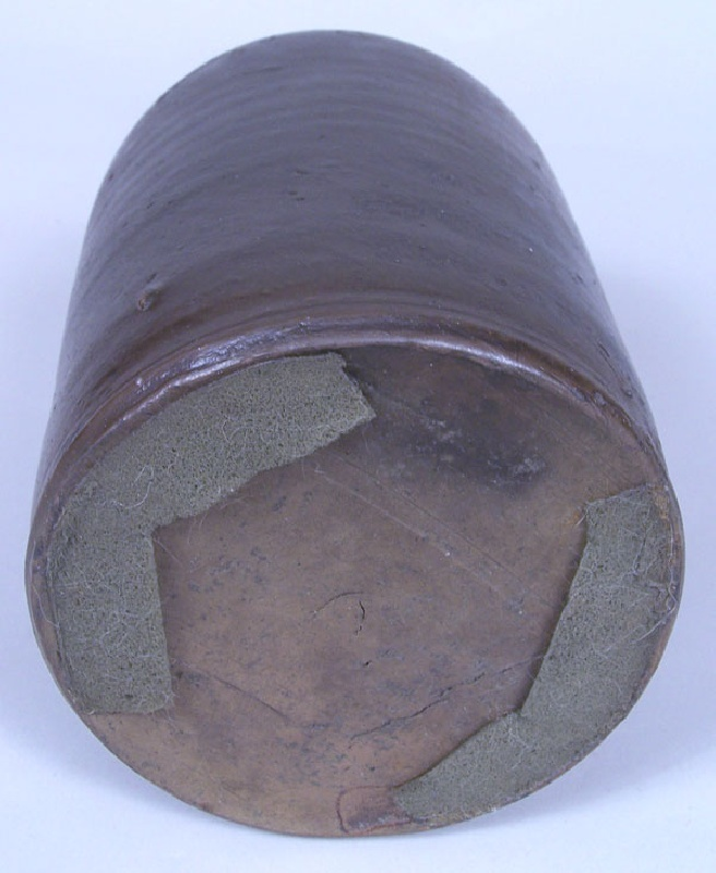 "Virginia stoneware jar, stamped ""E.W. Mort"" (lot#74)"