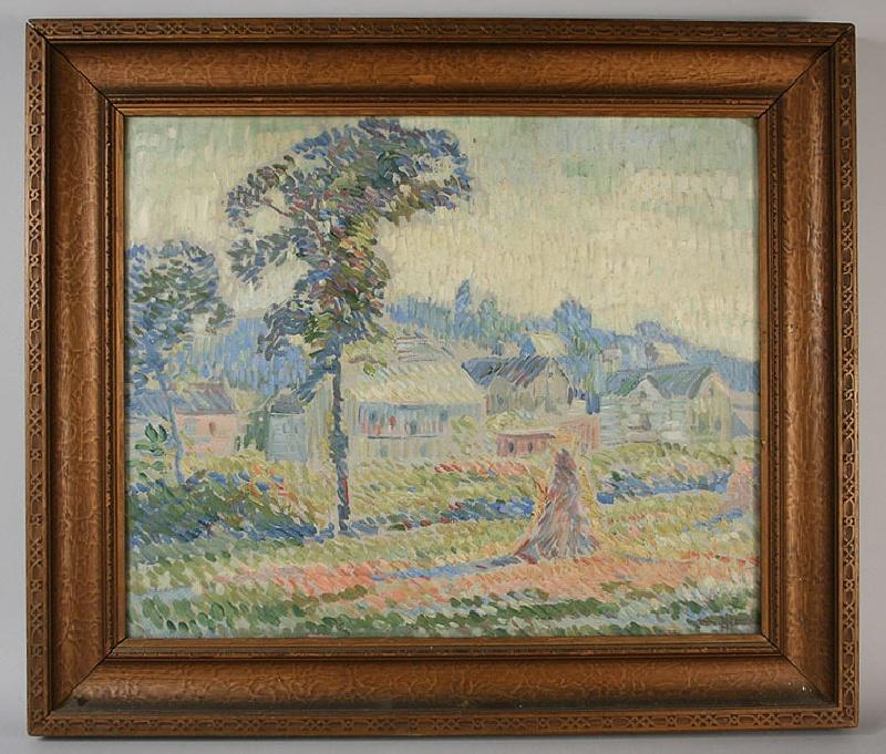 Impressionistic landscape by Edgar Hewitt Nye (1879-1943)