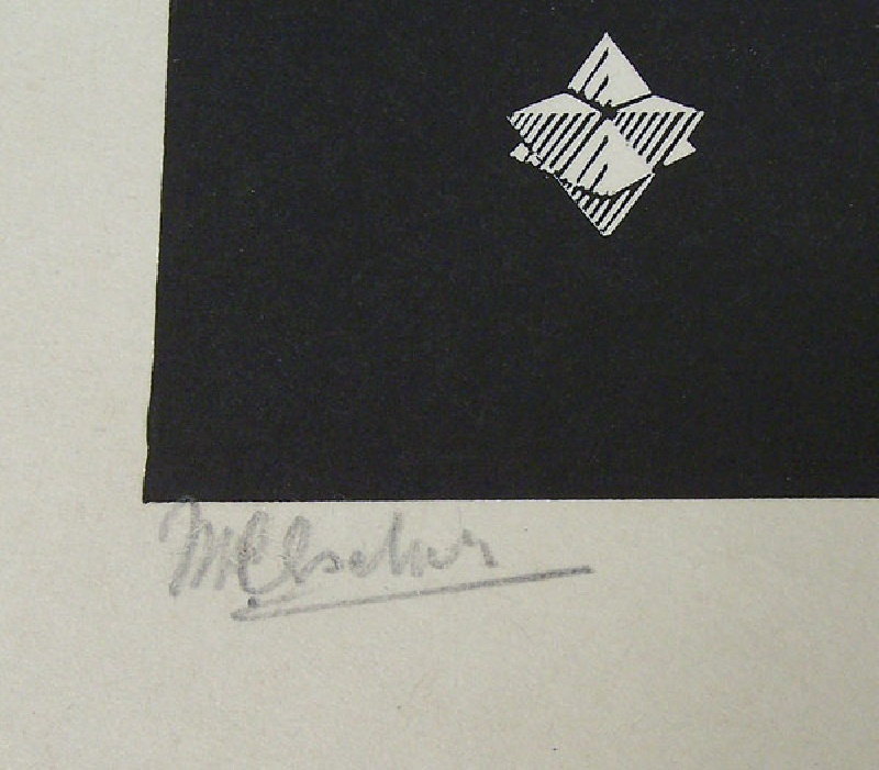 "Exceptional M. C. Escher (1898-1972) ""Stars"", signed engraving, 1948"