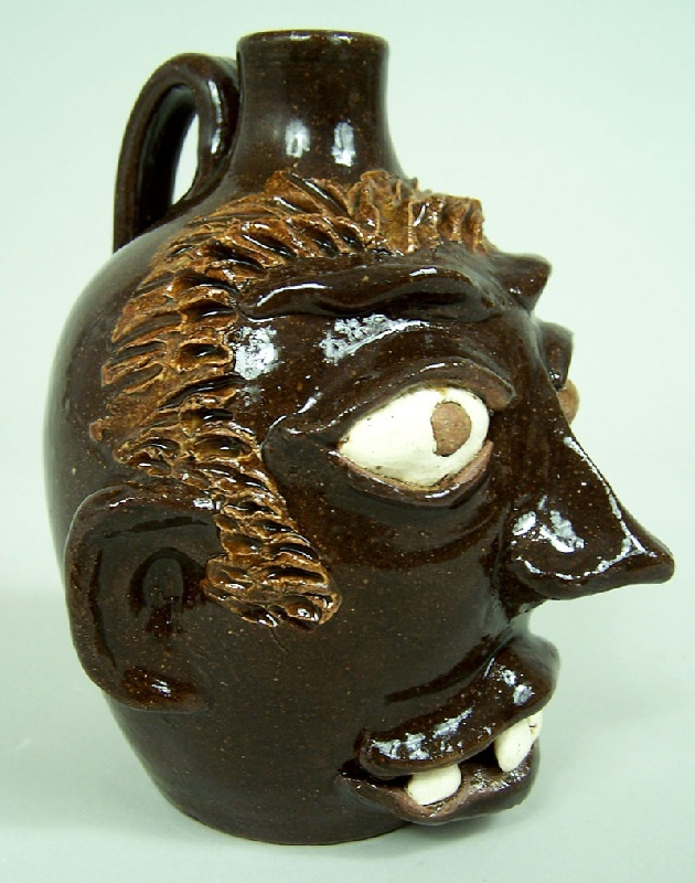 Southern folk pottery jug G. F. Cole (lot#236)
