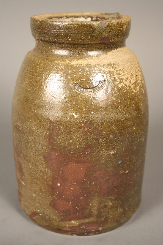 Stoneware jar stamped with mark for William Grindstaff, Knoxville