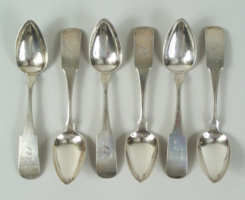 Tennessee coin silver spoons by Calvin Guiteau, Nashville (lot#115)