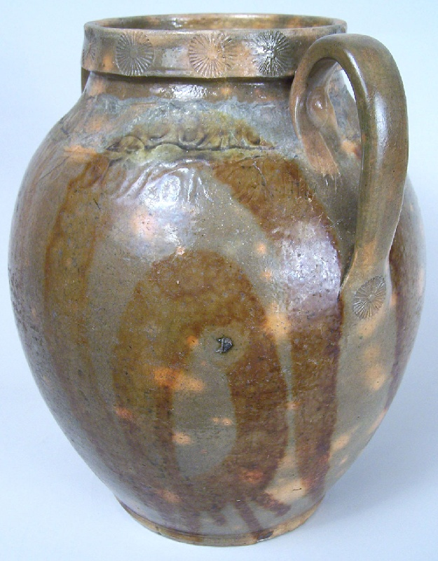 C A Haun redware pottery jar, Greene County, Tennessee (lot#38)